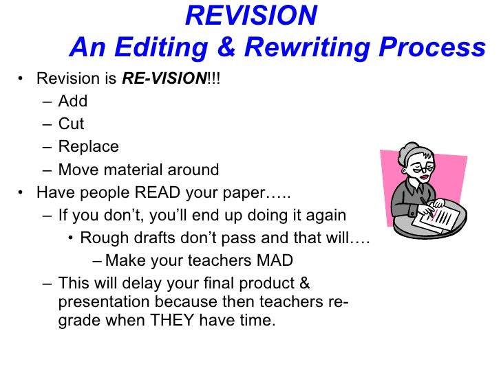 Research paper question: revision?