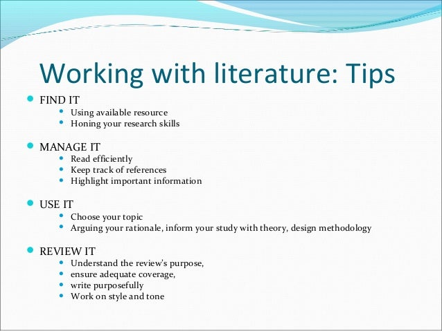 Techniques for writing a research paper