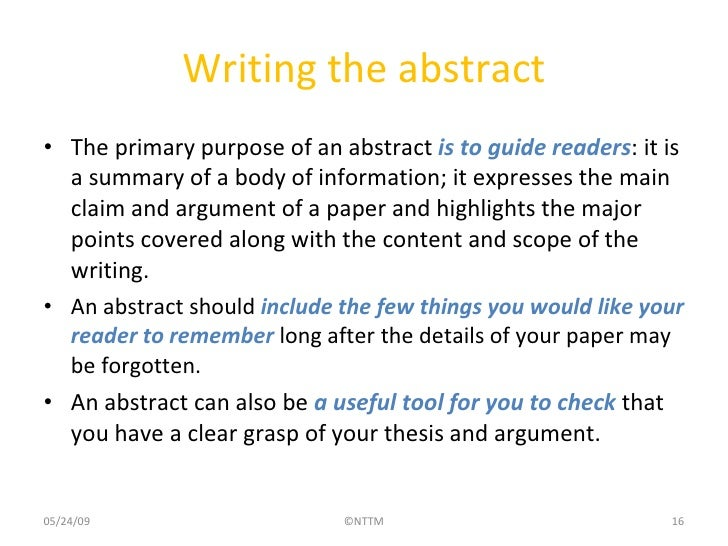 what is abstract in research paper