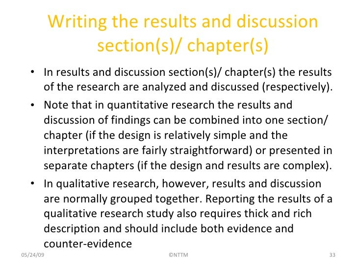 thesis chapter 5 results and discussion