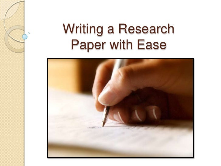 steps writing a research paper
