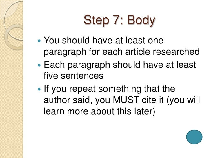 10 steps to developingwriting a research paper