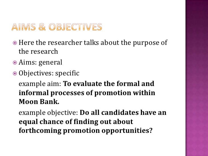 Writing dissertation objectives
