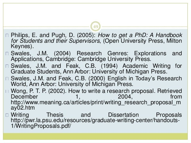 Research proposal phd development studies