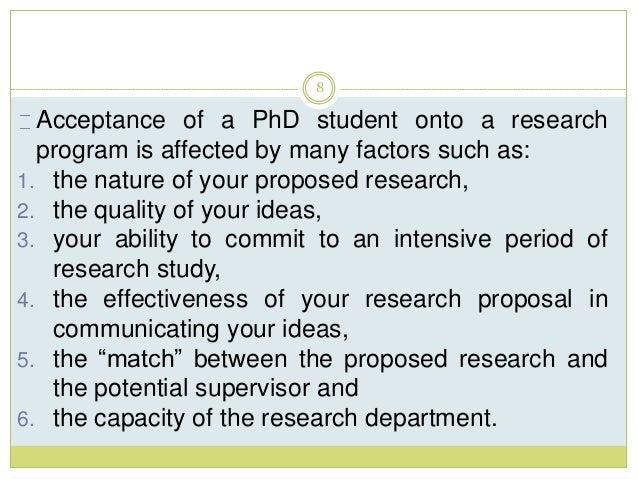 Drafting a research proposal for phd