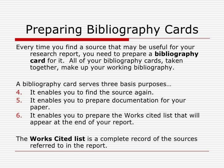 Preparing a bibliography