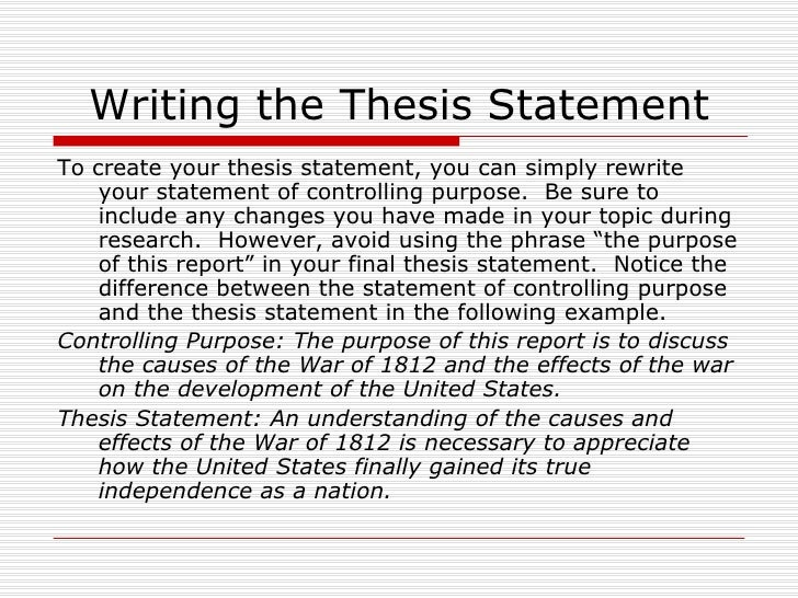 differences between specific purpose and thesis statement