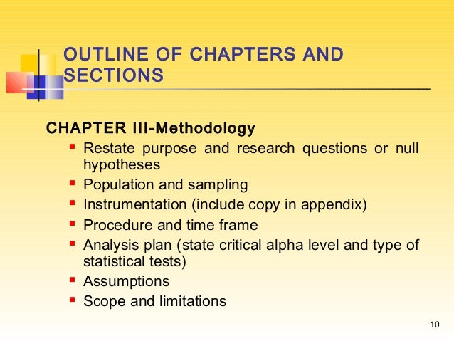 Parts of a research report
