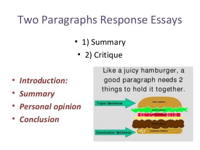 Writing A Response Essay