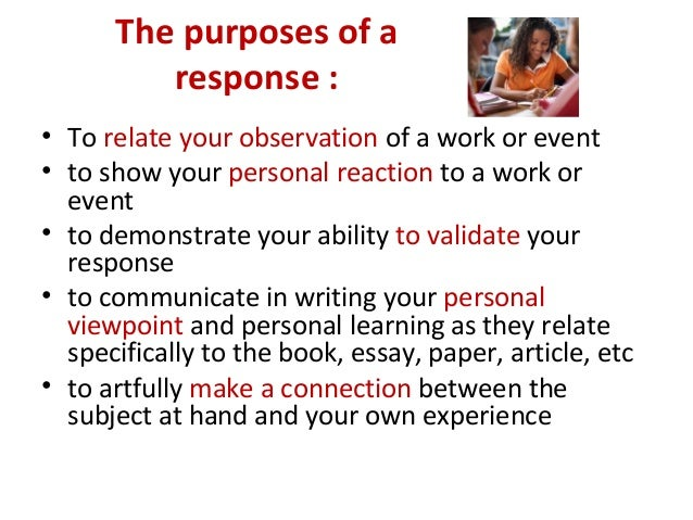First Person Response Essay Thesis Essay For You First Person Response  Essay Thesis Image