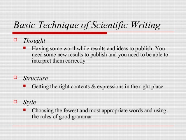 Writing a science paper
