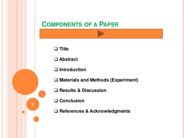 Materials and methods scientific paper