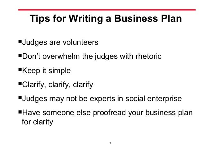 Social business plan