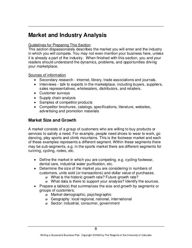 How to write an industry analysis