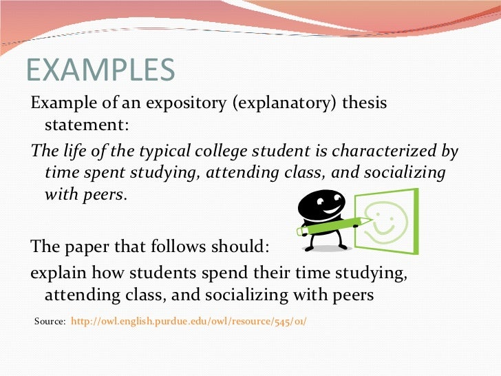 Examples of thesis statements for expository essays