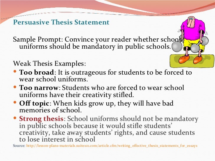uniforms at school persuasive essay Use this persuasive speech sample on having a mandatory school uniform policy to help you create a great persuasive presentation of your own.