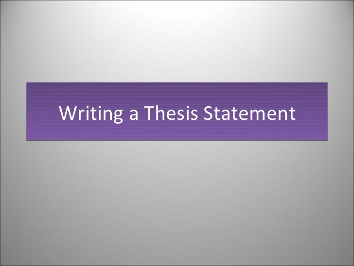 thesis statement creative writing