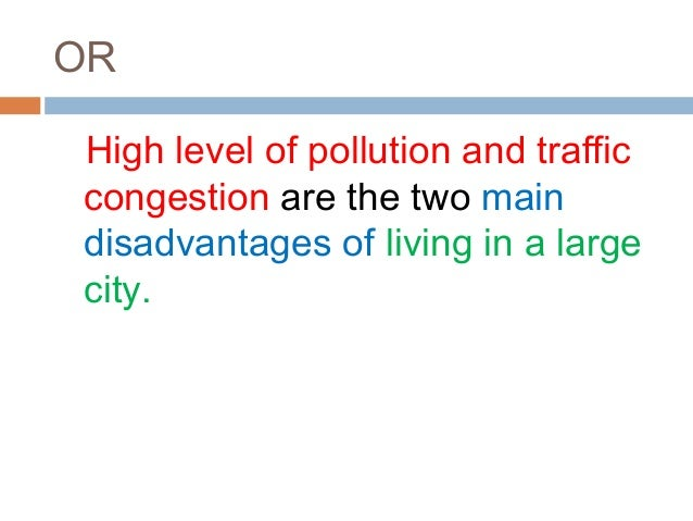 Thesis statement for pollution