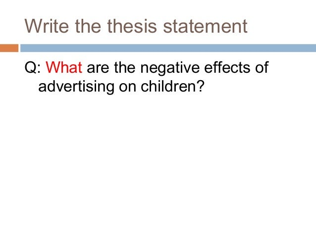 Can someone write me a introduction of an essay about the negative affect of advertising to children?