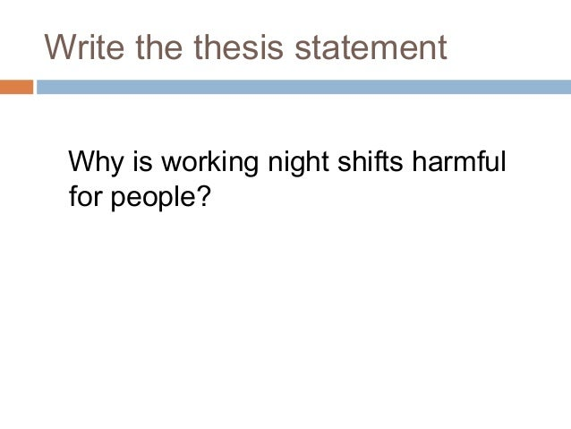 thesis statement+writing