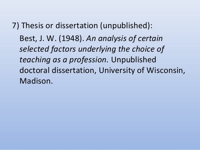 How to write a dissertation bibliography