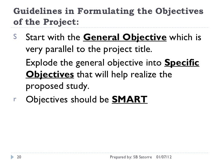 Research paper: how to write a general objective, specific objective and justification?