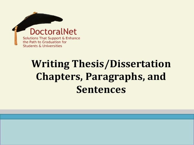 Writing Chapter 5 Dissertation
