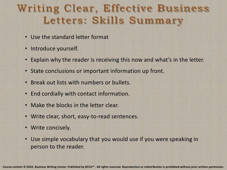 business letter writing skills Want to improve your business writing skills pick up one of these books what won't offers the first and last word on writing memos, business letters.