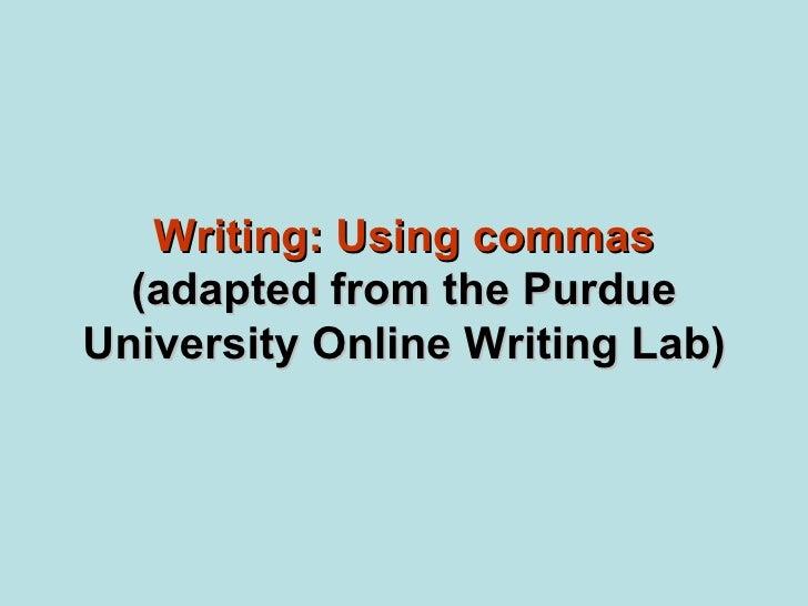 Writing commas