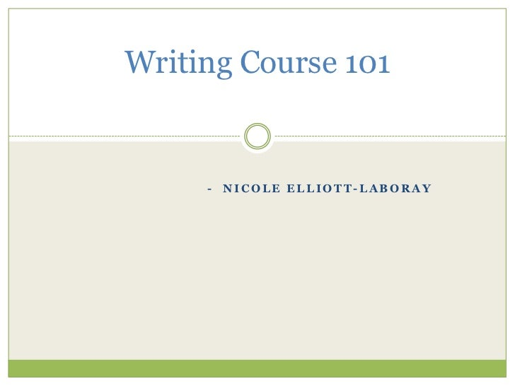 Writing course 101