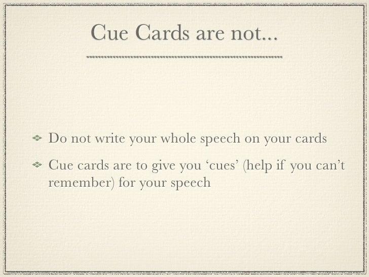 Design Cue Cards