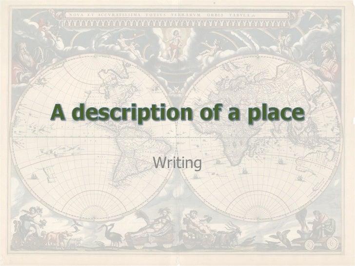 write essay describing oneself