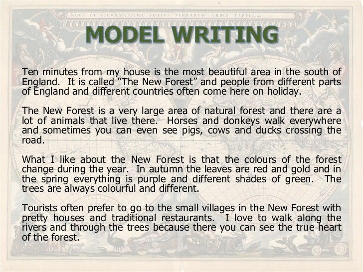 How to write an essay describing a place