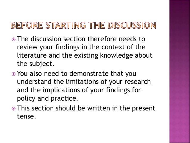 How to write the discussion section of a qualitative dissertation