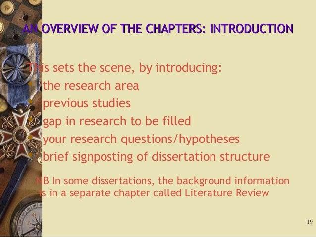 literature based dissertation discussion