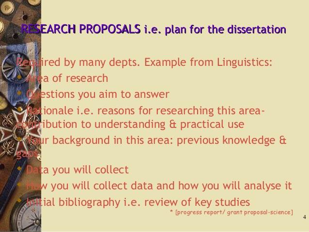 write dissertation rationale