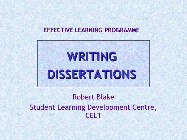 Assistance with dissertation writing