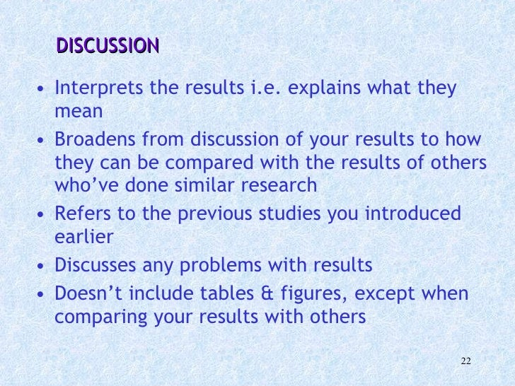 Dissertation Discussion Of Results