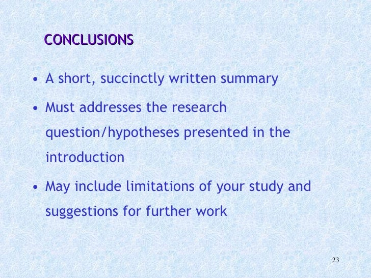 writing conclusions dissertations It's fair to assume that because the abstract and introduction are the first chapters to be read by someone reading your dissertation, it means they must be.