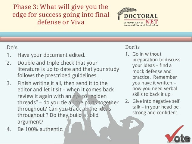 Dissertation defense ppt - The Writing Center
