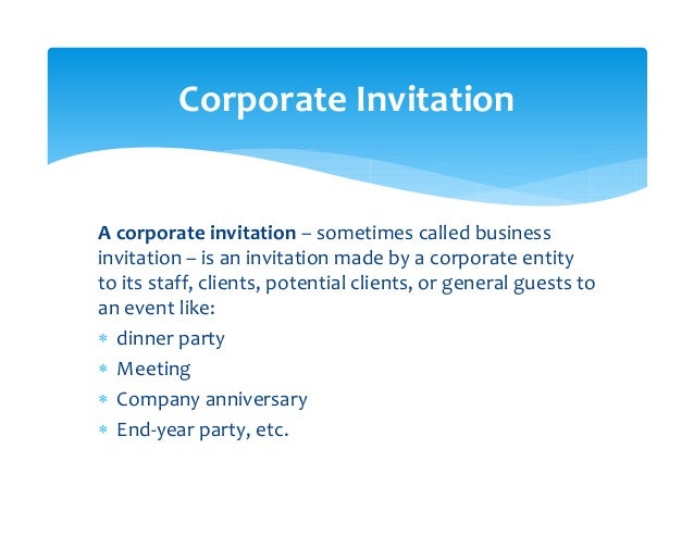 Writing e invitations