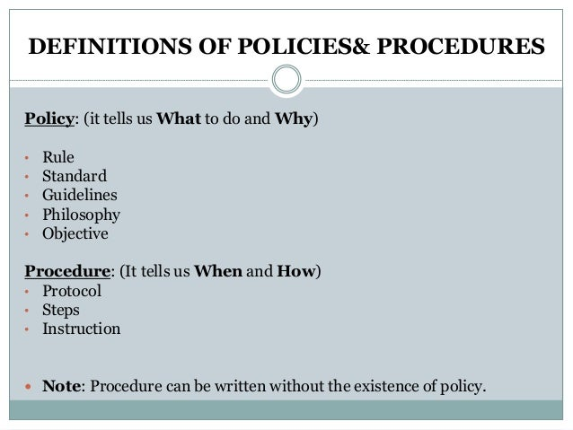 how to write office policy procedure