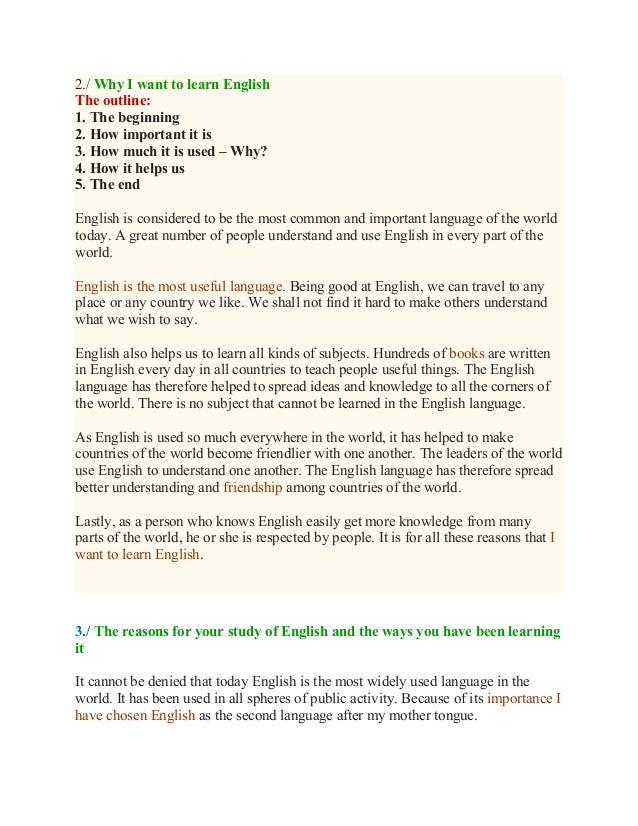 Learning english essay essay writing video