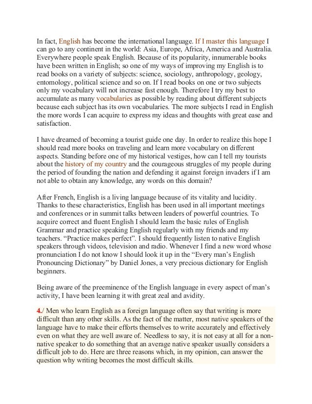 english world language essay The essay on english as a global language best essay writing as the key for international understanding essay on english as a global language and world.