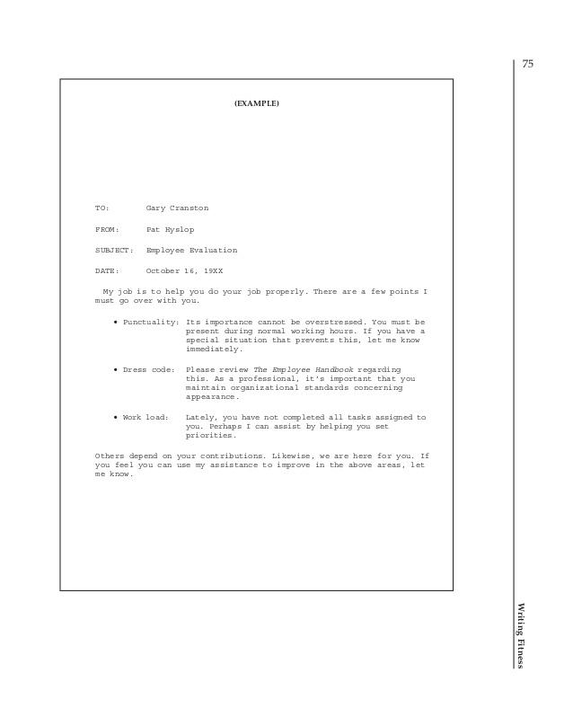 example writers memo