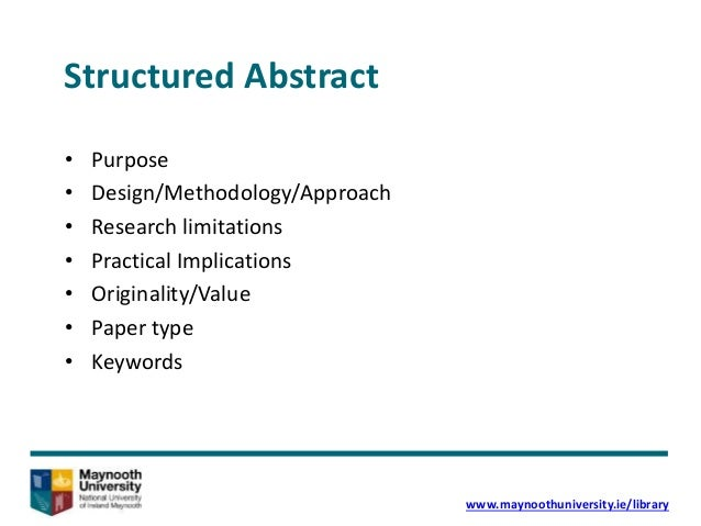 writing a structured abstract for the thesis Sample dissertation titles and abstracts master in  a structured format for the  stimulation of ideas might keep employees back from suggesting ideas even in.