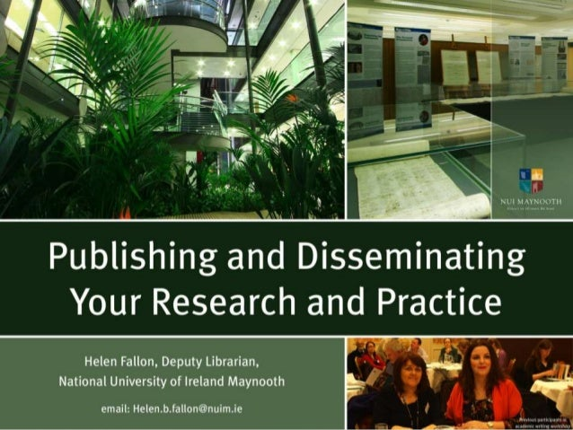 Publishing and Disseminating your Research and Practice