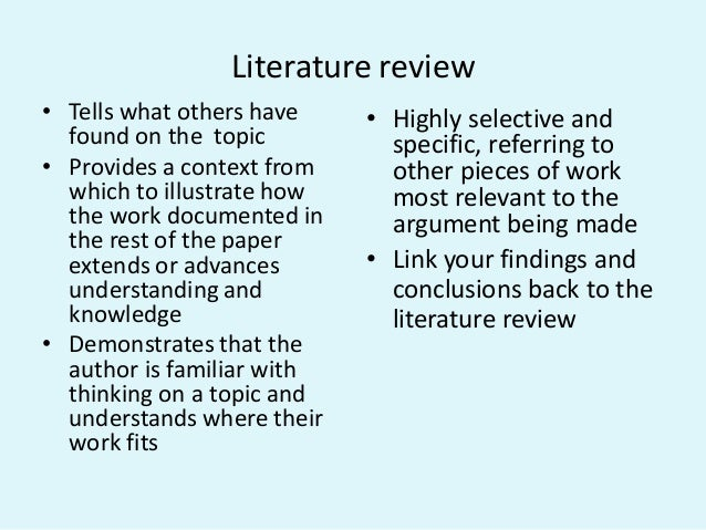 purpose of literature review in nursing research