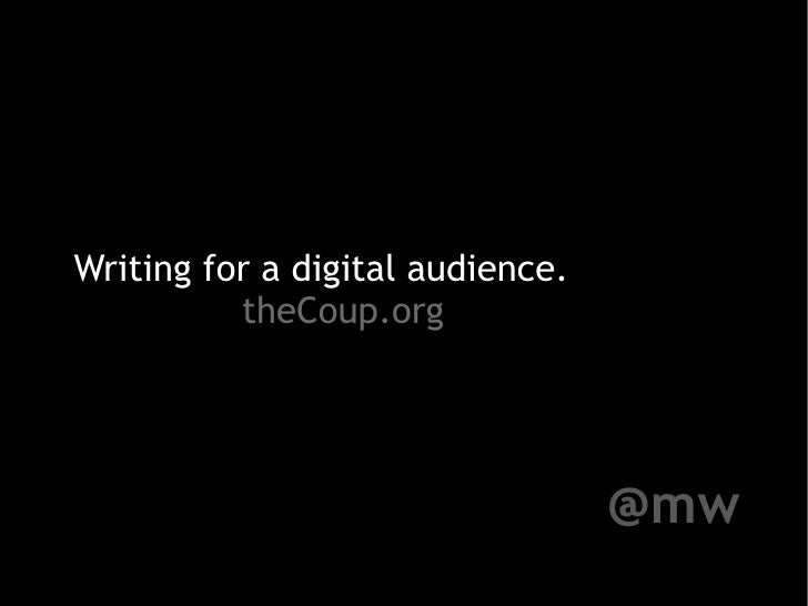 Writing for your Digital Audience