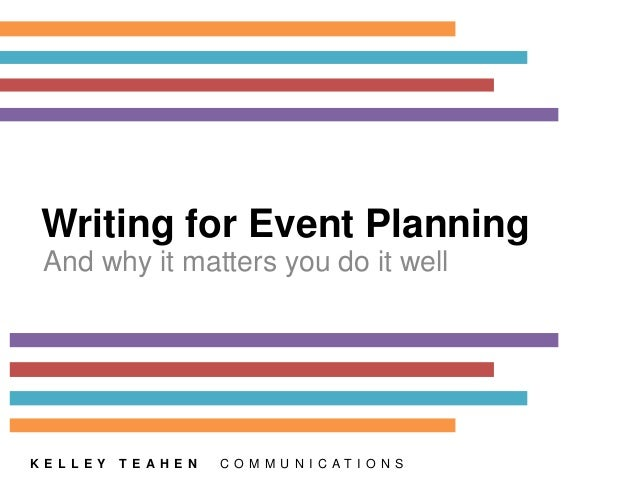 Writing for event planning